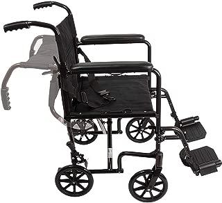 JSYCD Silla de Ruedas Plegable de Peso Ligero, portátil de aleación de Aluminio con Silla de Ruedas no Inflable, Carro para los Ancianos y Las Personas de Movilidad Reducida