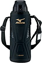 象印マホービン(ZOJIRUSHI) ミズノ 水筒 ステンレス クール スポーツ ボトル 直飲み 1.0L ワンタッチ オープン タイプ ブラック SD-FX10-BA