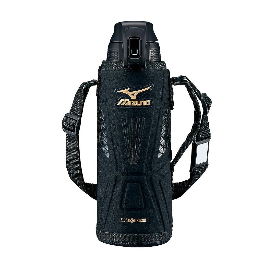 冒険家慣性計算可能象印マホービン(ZOJIRUSHI) ミズノ 水筒 ステンレス クール スポーツ ボトル 直飲み 1.0L ワンタッチ オープン タイプ ブラック SD-FX10-BA