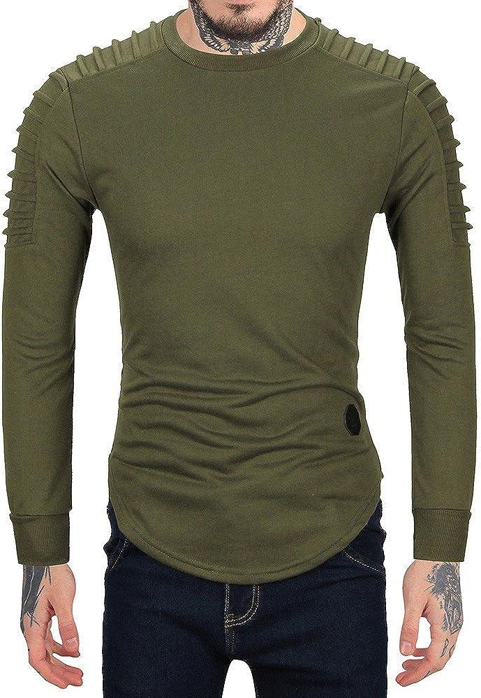 Men's Long Sleeve Hooded Sweatshirt Tops Jacket Coat Outwear