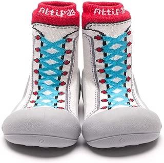 [Attipas] アティパス ベビーシューズ スニーカーズ/かわいいベビーシューズ 滑り止め 公園遊び 出産祝い プレゼント あんよの練習 保育園靴 ソックスシューズ プレシューズ 室内履き 女の子 男の子