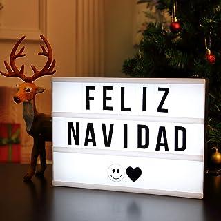 AGM LED caja de luz cinematográfica luz cálida con letras, números, símbolos, emojis, el Mejor Regalo de San Valentín
