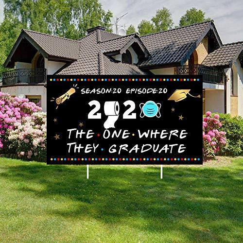 SOSPIRO 2020 Abschluss Party Yards Zeichen, Glückwünsch Klasse Von 2020 Graduate Yards Schild Abschluss Yards Schild Happy Geburtstag Außen Rasen Dekorationen - 2020 Graduation-2, 40 * 30 * 1 cm