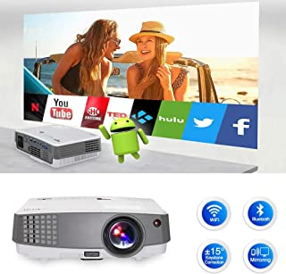 LCD LED Home /& Outdoor Projector Compatible with Fire TV Stick//Smartphone//HDMI//VGA//AV//USB ZCD Portable Projector with 8000 Lumen Full HD 1080P 150 Display Supported