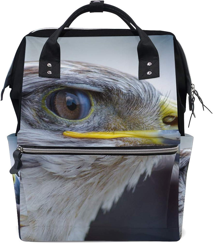 MONTOJ Bird Eagle Canvas Travel Bag Campus Backpack