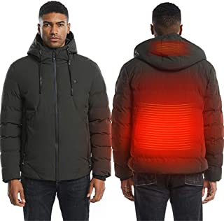 Men's And Women's Electric Heating Jacket Heating Vest USB Thermal Insulation Cloth Feather Oversized Winter Jacket