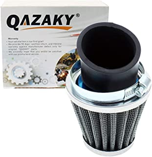 QAZAKY 35mm Air Filter Cleaner 45 Degree Angled Replacement for 50cc 70cc 90cc 110cc 125cc 2-stroke 4-stroke Engine Motorcycle ATV Quad Scooter Gokart Moped Chopper Pit Dirt Pocket Mini Bike 34mm 36mm