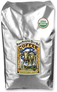 Raven's Brew Whole Bean Organic Three Peckered Billy Goat, Dark Roast 5-Pound Bag