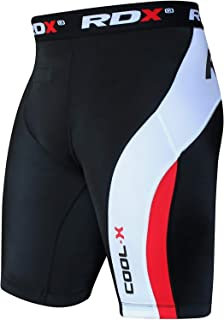 RDX MMA Men's Thermal Compression Shorts Boxing Training Base Layer Fitness Running Exercise