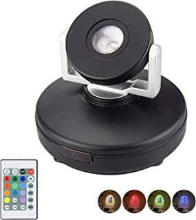 LUXSWAY Rechargeable Accent Light| Wireless Spotlights with Remote| Dimmable Picture Light with Rotatable Head| 12 Color C...