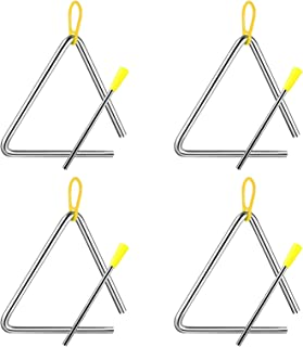 MHwan Instrumento Triángulo, instrumento triangular, Instrumentos musicales triangulares con percutor para niños, juguete ...