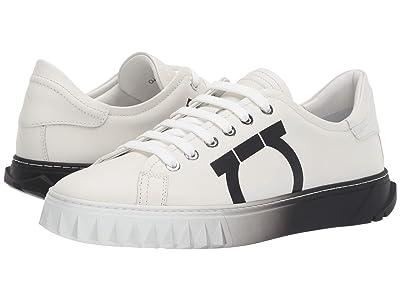 Salvatore Ferragamo Cube 8 Logo Low Top Sneaker (White Intense Swilly Calf 1) Women