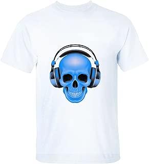 SHORTSLEEVE Blue Skull Music Talent Man Short sleeve Tee