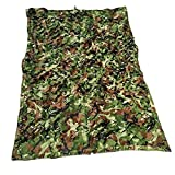 QIANMEI Velas de Sombra Toldos para Patio Netificación de Camuflaje Verde   Red de sombreado de Camuflaje   Respirable Campus Salvaje Bosque Anti-Ultravioleta Fácil Plegado (Color : A, Size : 6X8M)