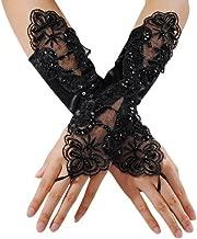black masquerade gloves