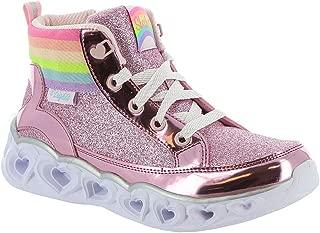 Skechers Heart Lights-Rainbow Diva 20272L Girls' Toddler-Youth Boot 3 M US Little Kid Pink-Glitter