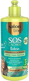 Salon Line - Linha Tratamento (SOS Cachos) - Creme para Pentear Babosa 500 Ml - (Salon Line - Treatment (SOS Curls) Collection - Aloe Vera Combing Cream Net 17.63 Oz)
