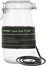 VIVOSUN Durable Waterproof Seedling Heat Mat Warm Hydroponic Heating Pad 3'' x 20