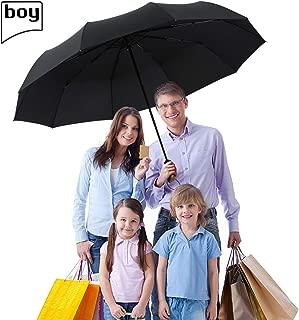 BOY Compact Umbrella Auto Open Close, 210T Dupont Teflon Coated Waterproof Travel Umbrella, 10 Strong Ribs Windproof Golf Umbrella, Unisex&Family