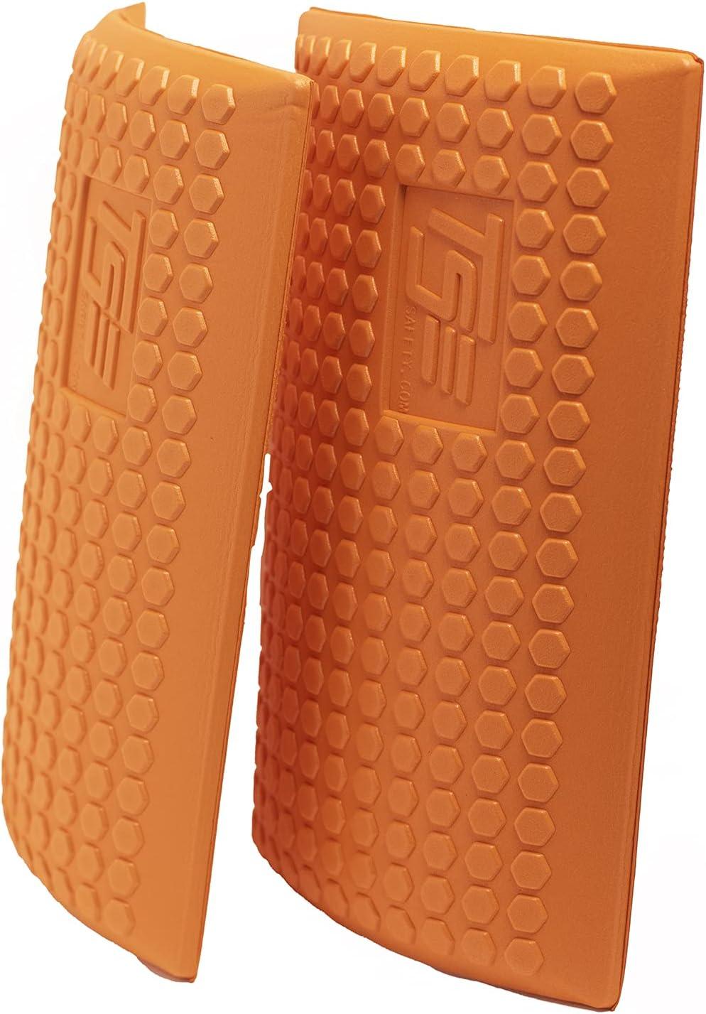 TSE Safety TSE-PPKS TSE-PRO Heavy Duty Padding Pocket Knee Savers with Extra Thick Foam Cushion, Soft Inner Liner, Adjustable One Size, Hi-Viz Orange