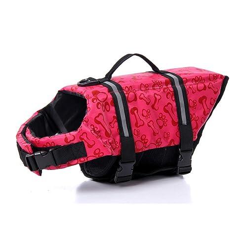 eBasics Dog Life Jacket Swimming Vest Swimsuit with Reflective Strips Adjustable Belt Life Preserver Buoyancy Aid Flotation Suit for Extra Small Medium Large Puppy Doggy Dogs
