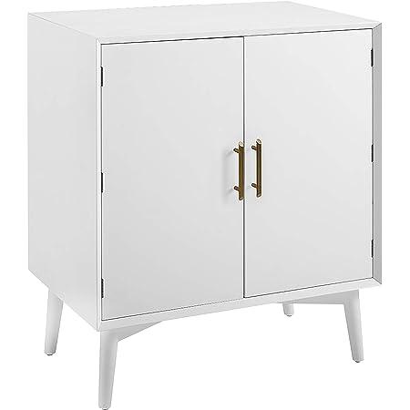Crosley Furniture Landon Mid-Century Modern Bar Cabinet, White