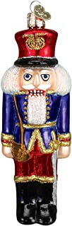Old World Christmas Glass Blown Ornament with S-Hook and Gift Box, Decorations Collection (Soldier Nutcracker [Blue])
