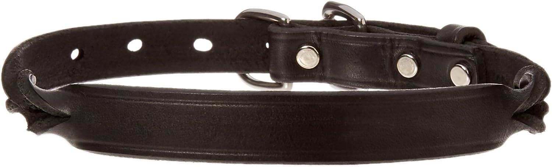 Perri's DC500 Twisted Leather Dog Collar, Medium, Black