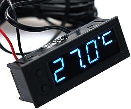 Basik - Reloj multifunción para medición de la temperatura del coche (voltímetro, 12 V CC)