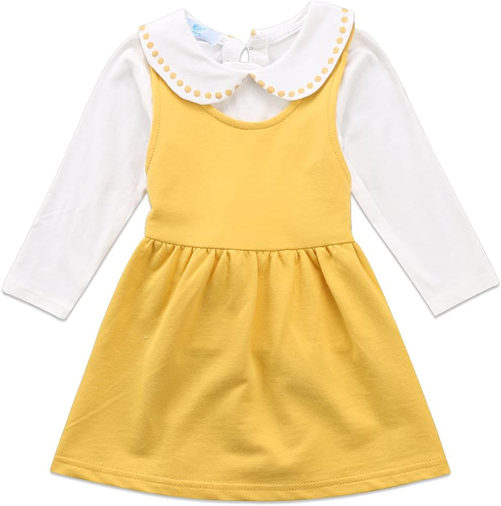 Toddler Baby Popular popular Girls Doll Collar Long Overal Fixed price for sale Ruffle Sleeve and Top