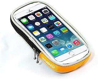 Yaunli Ciclismo Mochila Bolsa de Cuadro de Bicicleta Incluye una Funda de teléfono para Guardar el teléfono con Facilidad Bolsa de Maleta Mochila de Bicicletas (Color : Black, Size : 6.12