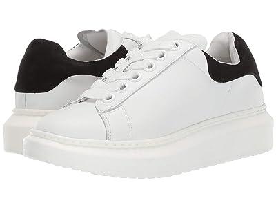 Steven Glazed Sneaker (White/Black) Women
