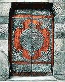 Pintura De Bricolaje Por Números,Puerta De Madera AntiguaPinturas Al Óleo Con Números,Pintado A Mano Sobre Lienzo Decoración Del Hogar Cuadro Regalo (40X50Cm)