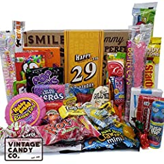 THE ORIGINAL VINTAGE CANDY CO. 29TH BIRTHDAY GIFT FOR BOTH MEN AND WOMEN NOSTALGIA DECADE CANDY FAVORITES IN A FUN CHILDHOOD KEEPSAKE BOX CELEBRATE A LOVED ONES 29TH BIRTHDAY WITH A TRIP DOWN MEMORY LANE INCLUDES OVER 45 PIECES OF CANDY SOLD IN THE T...