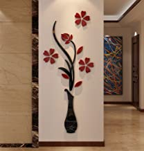 3d Vase Wall Murals for Living Room Bedroom Sofa Backdrop Tv Wall Background Originality Stickers Gift DIY Wall Decal Wall...