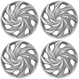 14 inch Hubcaps Best for 1998-2000 Toyota Corolla - (Set of 4) Wheel Covers 14in Hub Caps Silver Rim Cover - Car Accessories for 14 inch Wheels - Snap On Hubcap, Auto Tire Replacement Exterior Cap