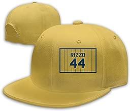 Men Women Anthony-Rizzo-Number #44 Baseball Cap Classic Adjustable Plain Hat Yellow