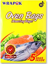 WRAPOK Oven Cooking Turkey Bags Small Size Ribs Baking Roasting Bags No Mess For Chicken Meat Ham Poultry Fish Seafood Veg...