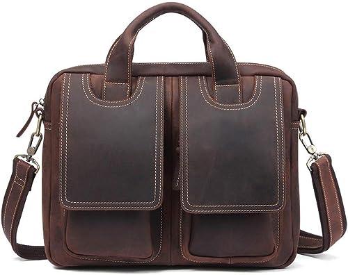 Briefcase Home Vintage Leder Herren Tasche Europ che und Amerikanische Casual Herren Business Aktentasche