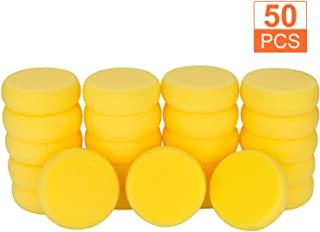 50Pcs of Synthetic Sponges, Round Watercolor Sponge for Artist Face Painting, Painting, Crafts, Pottery, Clay, Ceramics, Wall