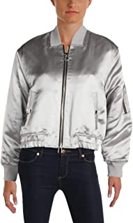 Elizabeth and James Womens Meta Royan Winter Quilted Bomber Jacket