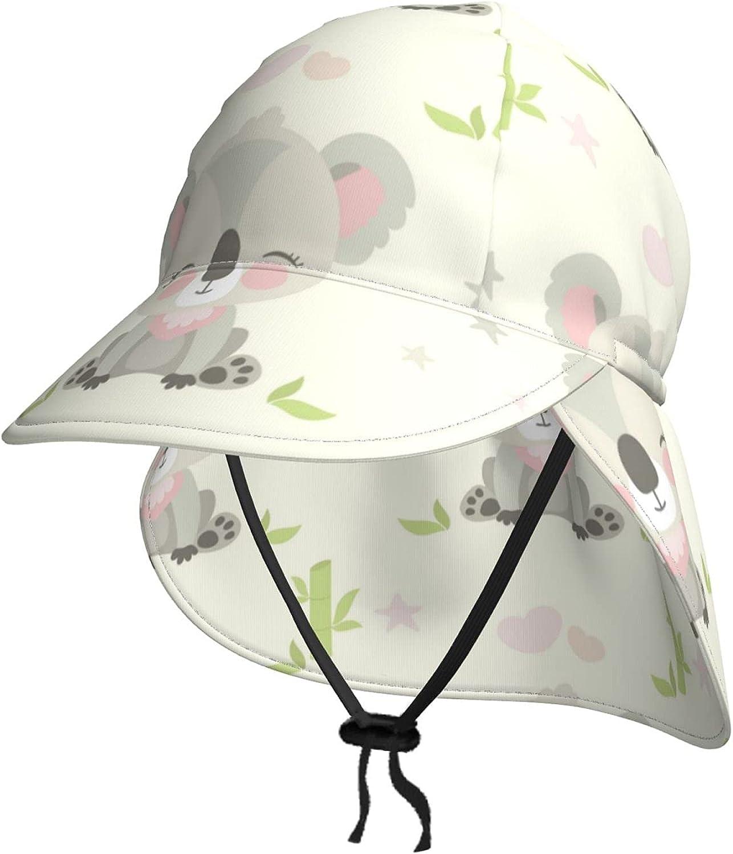 Cute Koala Fashion and Bamboo Kids Sun Neck Flap Hat Summer Denver Mall with