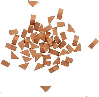 Generic 70Pcs Mini Red Wall Bricks Model Mini Brick Building Set for Sand Table Micro Landscape DIY Dollhouse Bricks Diora...