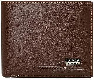 BeniMen's wallet short business folding wallet big capacity multi-card wallet-Light Brown