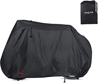 Waterproof Bike Cover 29 Inch Heavy Duty 210D Oxford Bicycle Cover with Double stitching & Heat Sealed Seams, Protection from UV Rain Snow Dust for Mountain Road Electric Bike Hybrid Outdoor Storage