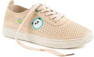 Chumbak Sprinting Steps Off-White Sneakers - 37