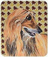 Caroline's Treasures Afghan Hound Fall Leaves Mouse Pad/Hot Pad/Trivet (SC9504MP) [並行輸入品]