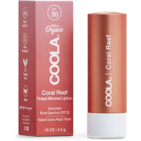 COOLA Organic Mineral Sunscreen Tinted Lip Balm, Lip Care for Daily Protection, Broad Spectrum SPF 30