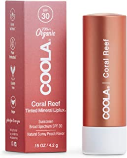 Sponsored Ad - COOLA Organic Mineral Sunscreen Tinted Lip Balm, Lip Care for Daily Protection, Broad Spectrum SPF 30, Reef...