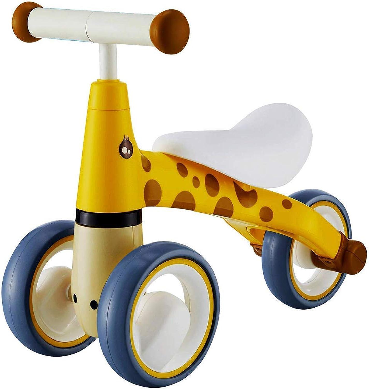 DTVX Babyfahrrad-Roller-Wanderer yo Auto 1-3 Jahre alte Babywanderer-Spielzeugauto, Fahrradgelb der sicheren Kinder